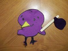 Purple Little Bird #flannelfriday #flannelboard #birds #colors