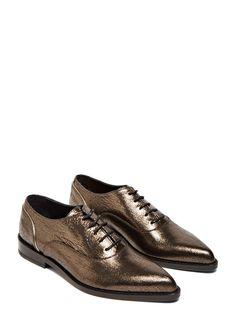 Find women's shoes Lanvin Richelieu Lace-up Shoes in bronze. Find more at  LN-CC.