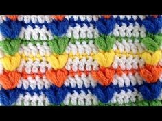 Rainbow Puff Crochet Stitch Pattern by Maggie Weldon of Maggie's Crochet