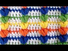 Rainbow Puff Crochet Stitch Pattern by Maggie Weldon of Maggie's Crochet