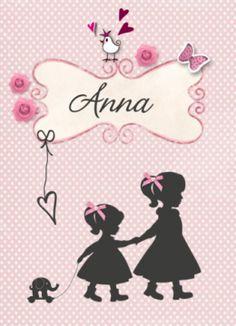 Geboortekaart met silhouet zusjes #geboortekaartje #geboortekaart #meisje #meisjes #dochter #dochtertje #dochtertjes #babygirl #silhouet #silhouette #vintage #pastel #classic #naamkader #zachtroze #oudroze #roosjes #olifantje
