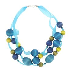 Necklace by Aarikka Finland Jewellery Diy, Jewelry Design, Marimekko, Helsinki, Scandinavian Design, Finland, Turquoise Necklace, Sculptures, Necklaces