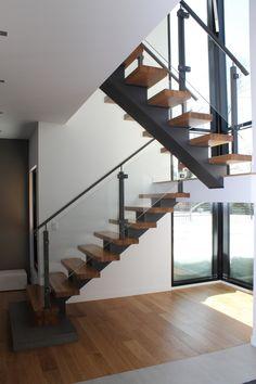 Escalier avec limon central en acier - Meto Concept
