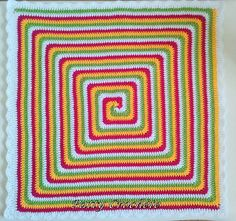 Solid Spiral Granny Square Motif By Patty Crochète - Free Crochet Pattern - Available In French And English - (ravelry)