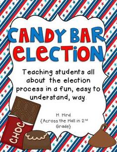 It's+Election+Year! Teach+your+students+about+the+election+in+a+fun,+easy+to+understand,+engaging+way.with+candy+bars! This+unit+was+truly+d. 3rd Grade Social Studies, Social Studies Classroom, Social Studies Activities, 2nd Grade Classroom, Teaching Social Studies, Classroom Ideas, President Election, Election Day, Election Process