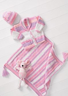 Motif Tricotage Bébé Kitty Cat couverture et coussin DK King Cole 3981