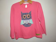 Appliqued Owl Top Age 3-4 Years by wonderbugs on Etsy, $13.00