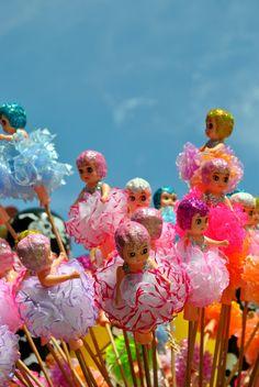 Vintage Kewpie Doll Bouquet. Kitsch, kitsch, kitsch.