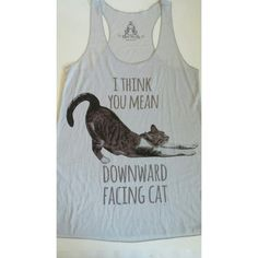 I think you mean downward facing cat -tank top New Medium 65% Rayon 35% Polyester  2 for $30 Tops Tank Tops