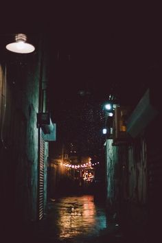 Beautiful dark alley