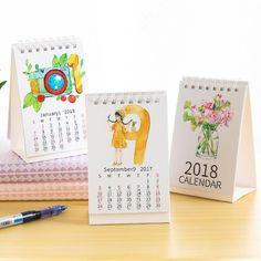 Office & School Supplies Cute Cartoon 2019 Table Calendar Daily Efficiency Book Diy Plan Kawaii Desk Calendar Kawaii Stationery Making Things Convenient For Customers