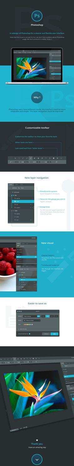Photoshop redesign on Behance