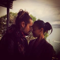 Pin for Later: Zoe Saldana and Marco Perego Are So Cute Together, It Actually Hurts  Zoe shared this sweet Instagram snap on Valentine's Day 2015.