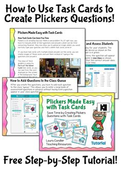 Huge time-saver for Plickers! Free step-by-step tutorial to explain how to create Plickers questions with task cards.