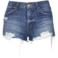 TopShop Moto Vintage Rosa Short ($40) ❤ liked on Polyvore featuring shorts, bottoms, pants, short, mid stone, topshop shorts, short shorts, destroyed shorts, vintage distressed shorts and vintage ripped shorts