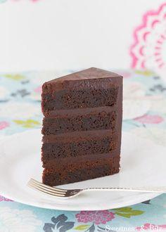Gluten Free Dark Chocolate Mud Cake | Sweetness & Bite