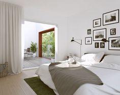 בקומה העליונה יהיו שני חדרי שינה, חדר רחצה ומרפסת שצופה על החצר והשכנים ( Tham & Videgard Architects )