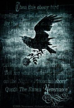 "Quoth the raven, ""NEVERMORE!"""