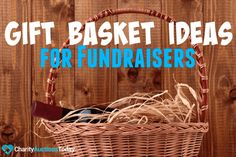 Ways to Raise Money - Gift Basket Ideas for Fundraisers. Any time of year you are planning a fundraiser, gift baskets are an ideal option. Who doesn't enjoy getting a themed gift basket full of goodies? Baskets are versatile. Fall Gift Baskets, Homemade Gift Baskets, Fundraiser Baskets, Raffle Baskets, Theme Baskets, Themed Gift Baskets, Silent Auction Baskets, Fall Gifts, Iphone