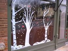 Image result for christmas window hand painted
