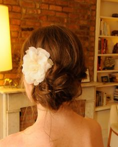 This is my wedding hair inspiration. I LOVED this! I wanted this, just a bit less messy and without the braids. (My hair stylist interpreted this totally different but what I'll have is pretty too.)