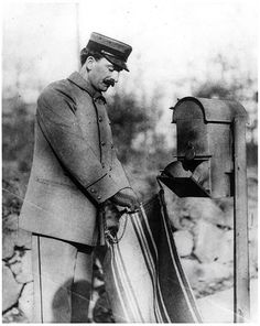 Letter Carrier Collecting Mail by Smithsonian Institution, via Flickr