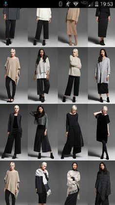 Best Fashion Tips For Women Over 60 - Fashion Trends Over 60 Fashion, Fashion Now, Womens Fashion, Minimalist Fashion Women, Minimal Fashion, Cool Outfits, Casual Outfits, Pantalon Large, Eileen Fisher