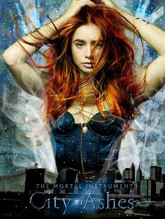 The City of Ashes by Cassandra Clare. The second book in The Mortal Instruments series. I love that Jace is such a smart ass, I am counting the days until I can get book three. Livros Cassandra Clare, Cassandra Clare Books, Serie Got, Film Serie, Books Turned Into Movies, Clary And Jace, Clary Fray, Lily Collins Hair, Mortal Instruments Books