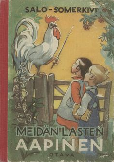 Finnish book cover - Aapinen (ABC book) - Martta Wendelin - artist - Finland
