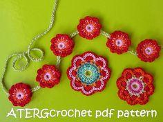 Crochet triple energía de la flor patrón de ATERGcrochet