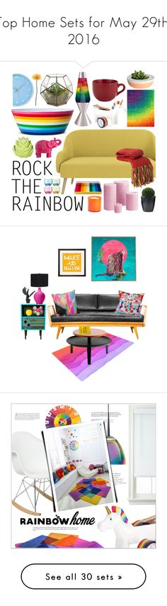 """""""Top Home Sets for May 29th, 2016"""" by polyvore ❤ liked on Polyvore featuring interior, interiors, interior design, home, home decor, interior decorating, MoMo, Shiraleah, Mario Luca Giusti and LSA International"""