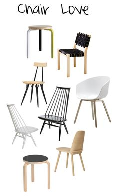 """""""Chair Love"""" by efelin ❤ liked on Polyvore featuring interior, interiors, interior design, home, home decor, interior decorating, Artek, HAY, Flensted Mobiles and interiordesign"""