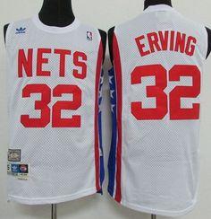 9692dee1da5 Nets #32 Julius Erving White ABA Retro Swingman Throwback Stitched NBA  Jersey