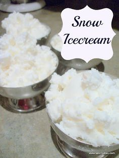 "Snow Icecream - we put two bowls out before the snow storm came through and had such yummy ""icecream"" tonight after dinner.  Definitely a fun new family tradition!"