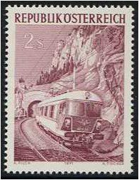 Austria 1971 Railway Anniversary Stamp