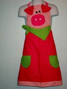 Pig apron by cheycheycreations find us on facebook