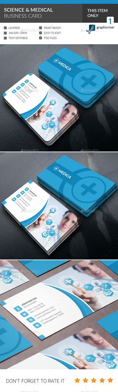 Medical & Scientist Business Card — Photoshop PSD #psd #light • Available here → https://graphicriver.net/item/medical-scientist-business-card/14420028?ref=pxcr