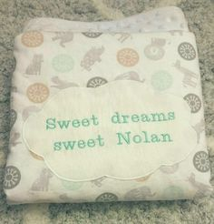 Personalized Sweet dreams crib blanket Product by GramsCozyCorner