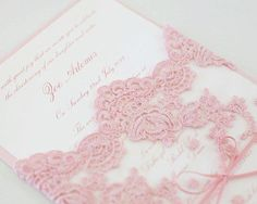 New Wedding Invitations Pink Lace Baby Shower Ideas Quince Invitations, Pink Wedding Invitations, Wedding Stationary, Baby Shower Invitations, Christening Invitations Girl, Wedding Themes, Wedding Cards, Lace Baby Shower, Navy Baby Showers