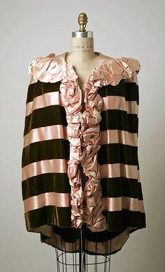Pink & Cocoa Silk Cape by Schiaparelli