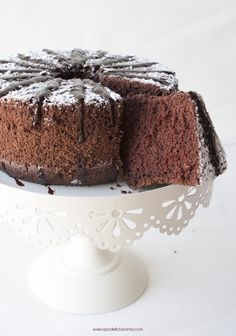 chocOlate cake with chocolate syrup (gluten free) Chocolate Chiffon Cake, Chocolate Cake, Chocolate Syrup, Flourless Chocolate, Melting Chocolate, Sin Gluten, Gluten Free, Frosting Recipes, Cake Recipes
