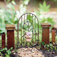 Miniature Gardening - Vine Gate with Pot > $7.49    #miniaturegardening #fairygarden #planningaminiaturegarden