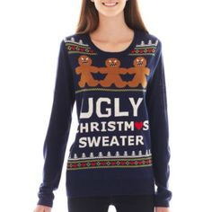 love by design holiday sweater found at jcpenney holiday sweaters ugliest christmas sweaters - Jcpenney Christmas Sweaters
