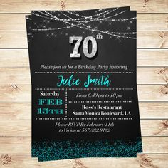 Elegant Th Birthday Surprise Party Invitations Surprise Party - 70th birthday invitation images