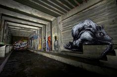 Nifty story in today's New York Times about The Underbelly Project: a group of street artists who turned an abandoned New York City subway station into an off-limits art gallery. The Times says: Known to its creators and participating artists. Derelict Places, Abandoned Places, New York City Images, City Hall Station, Hidden Art, New York Subway, New York City Travel, Subway Art, Street Artists