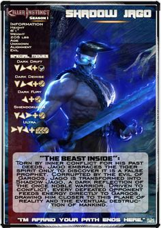 Killer Instinct Season 1 Card - Shadow Jago by MikazukiMAN on DeviantArt