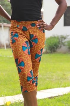 African Print Capri Pants by ifenkili on Etsy, $35.00