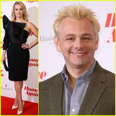 Reese Witherspoon & Bleach Blonde Michael Sheen Screen 'Home Again' in London