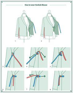Chemisier femme Pure White Short Sleeve Hanbok Korean Party | Etsy Korean Traditional Dress, Traditional Dresses, Moda Disney, Modern Hanbok, Mode Abaya, Wrap Blouse, Party Shirts, Refashion, Diy Clothes