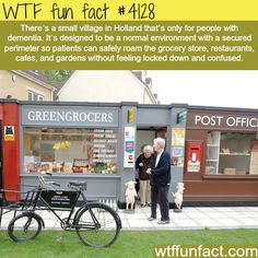 Amazing Dutch Village Improves the Lives of People With Alzheimer's or other forms of severe dementia. The More You Know, Good To Know, Holland, Wtf Fun Facts, Random Facts, Crazy Facts, Random Stuff, The Truman Show, Faith In Humanity Restored